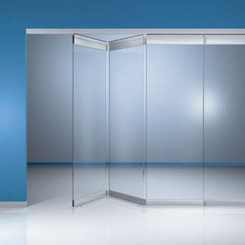 FSW-C Frameless glass sliding folding wall system