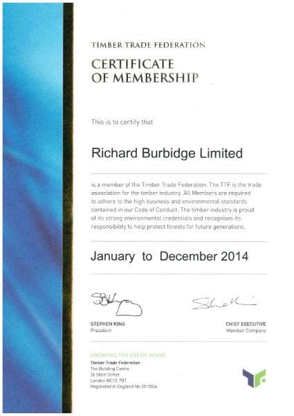 TTF Certificate