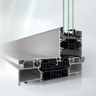 Highly thermally insulated aluminium sliding door system - ASE 80.HI
