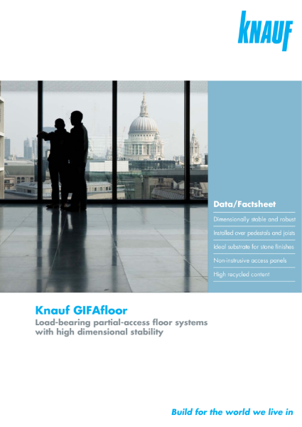 Knauf GIFAFloor Booklet - High density gypsum flooring