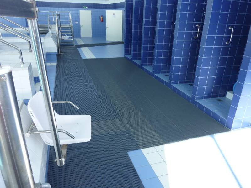 Heronrib barefoot matting ensures safe walkways
