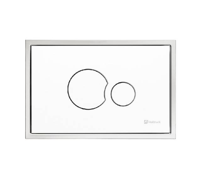 TRF1201E Multikwik Flush Plate - Eclipse Recessed (White Finish)