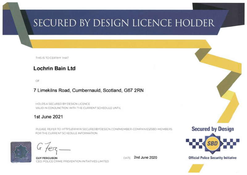 Secure By Design Membership Certificate 20-21