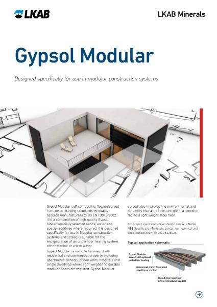 GYPSOL Modular Screed