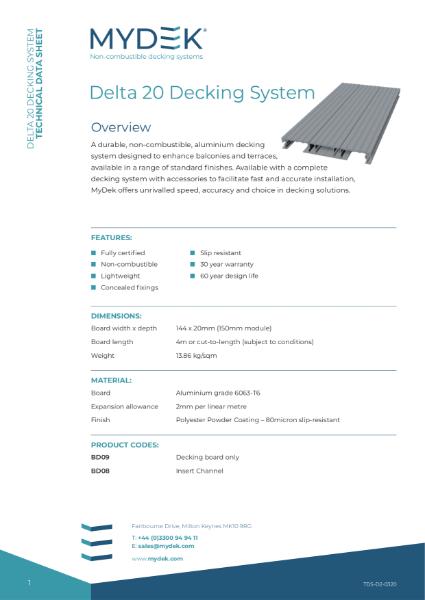 MyDek Delta 20 Specification