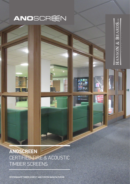 """ANOSCREEN"" Glazed Screens by Hanson and Beards Ltd"