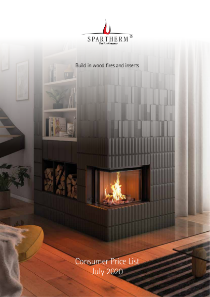 Spartherm built-in wood fires price list 2020