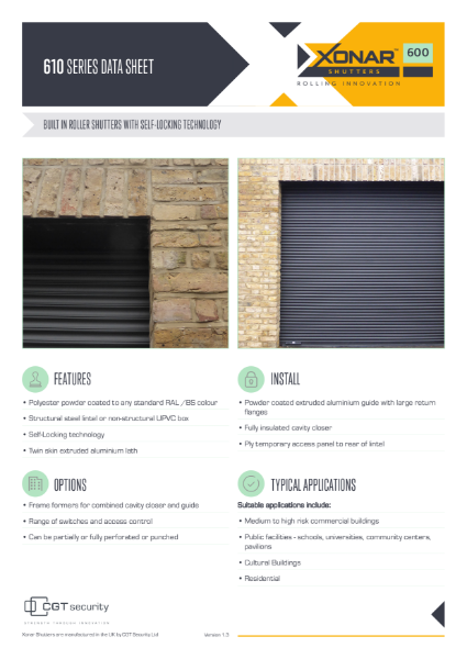 Xonar 610 Security Shutter
