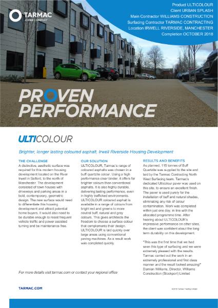 Ulticolour coloured asphalt parking area - case study