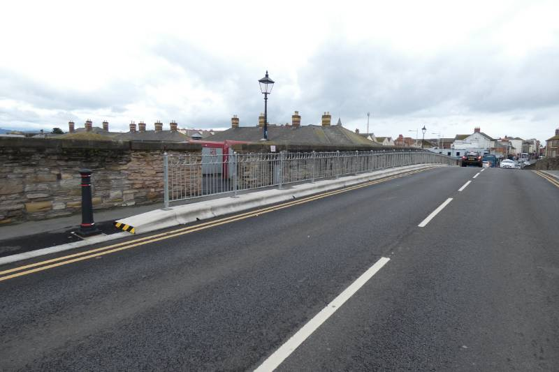 Trief Cadet Containment Kerbs provides protection to a Victorian road bridge in North Wales.