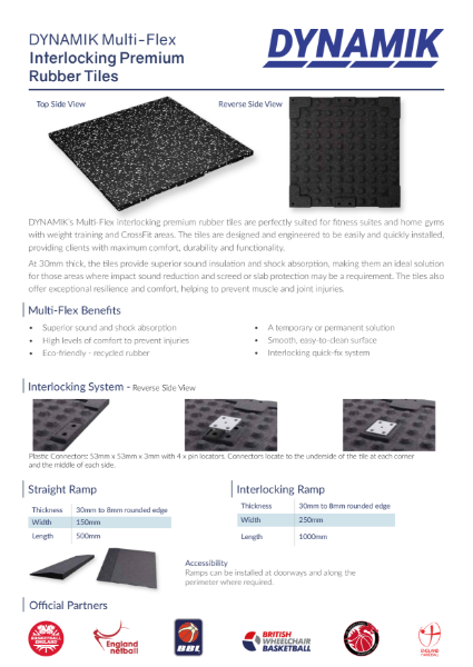 Multi-Flex Rubber Gym Tiles
