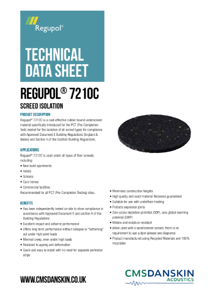 Regupol® 7210C - Screed Isolation
