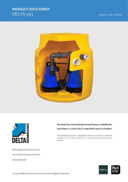 Delta V3.1 Sump Pump