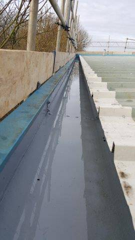 Liquid Gutter Lining Project using Liquasil's Gutterseal system