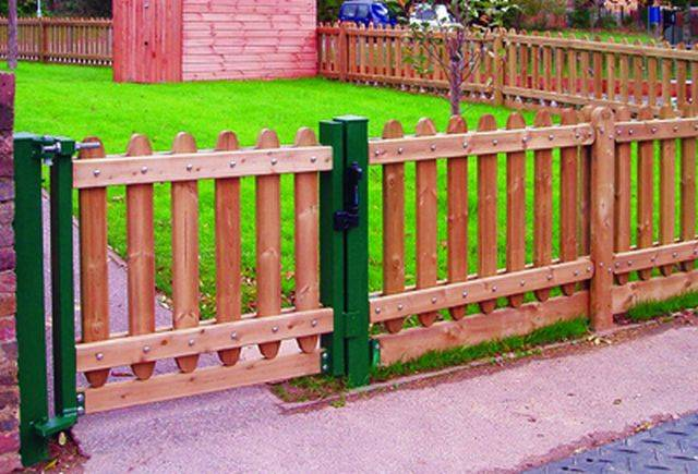 Playtime Timber Fencing