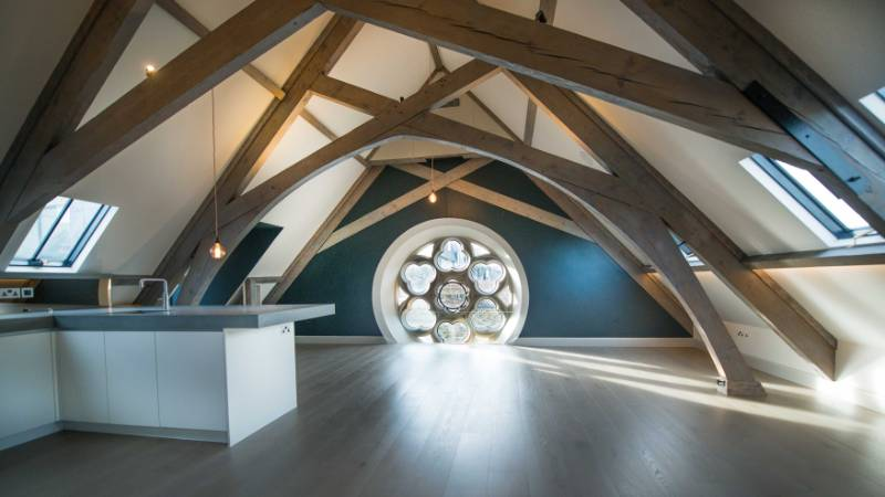 Clement rooflights flood daylight into this sensitively converted, luxury Listed Building