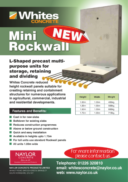 L-shaped retaining mini Rockwall units