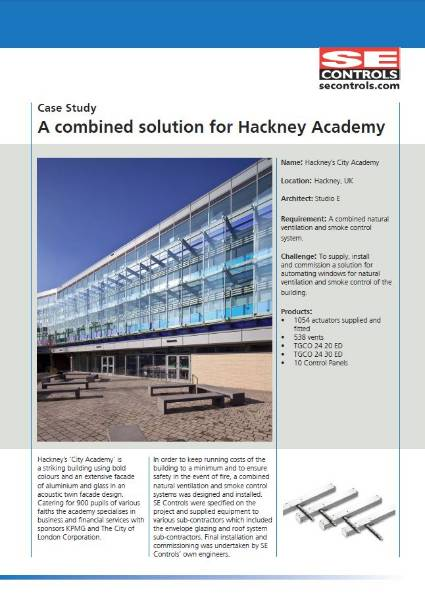 Smoke Ventilation & Natural Ventilation for The City Academy Hackney