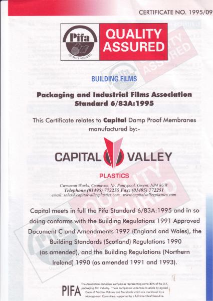 PIFA Certificate