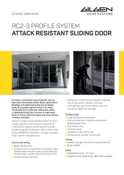 Gilgen RC2-3 Burglar Resistant Sliding Door