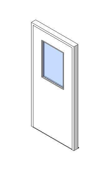 External Single Door, Vision Panel Style VP06
