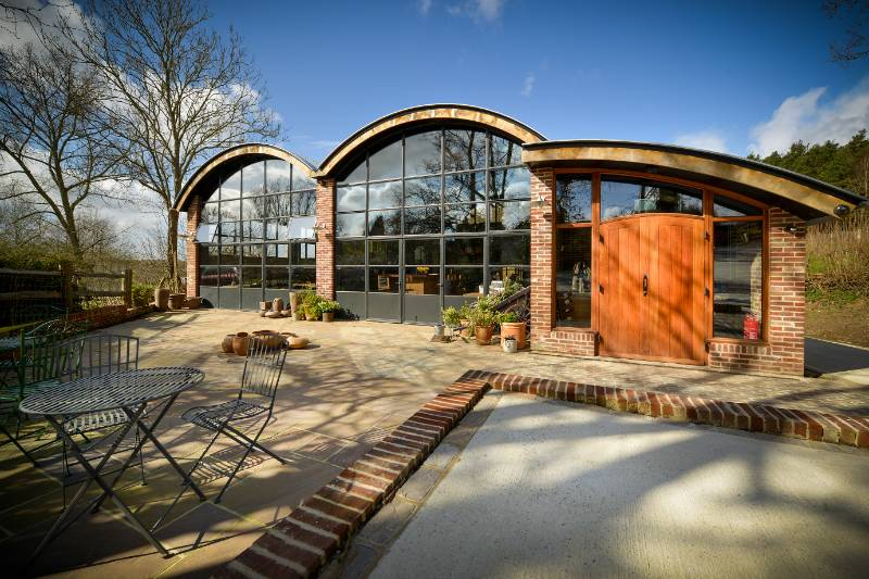 Clement steel windows, doors and screens feature throughout this fabulous Vineyard