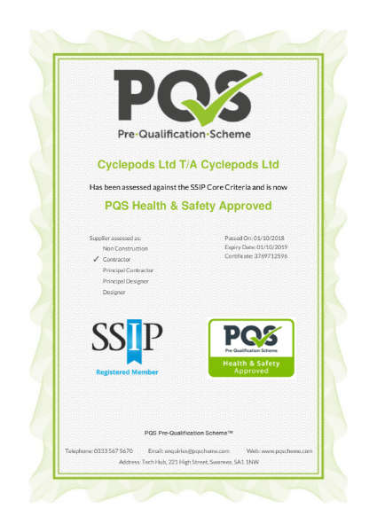 PQS SSIP Health & Safety Approved