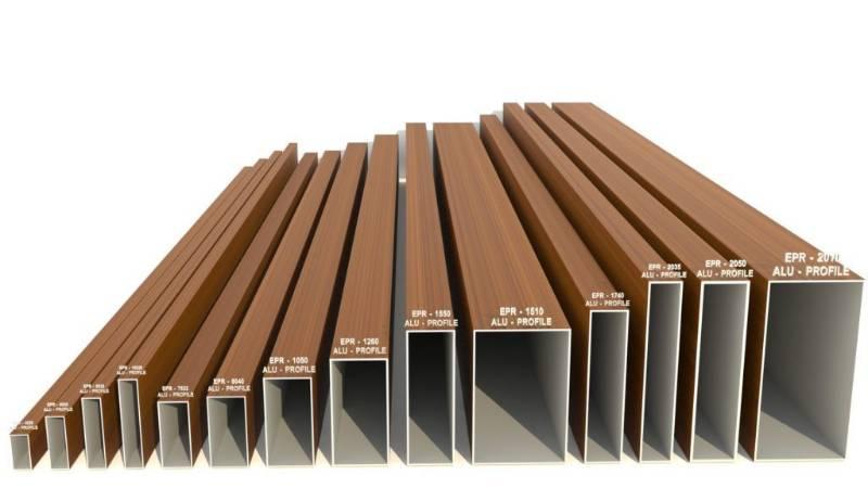 Technowood Natural Veneer Coated Aluminium Tube Profiles