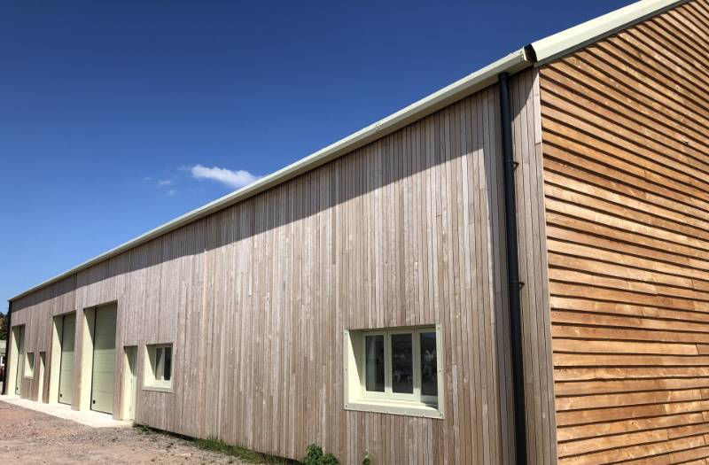 Brimstone cladding at Sylva Centre Grain Store