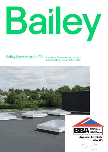 Bailey System 17000 FR Bitumen Felt Brochure