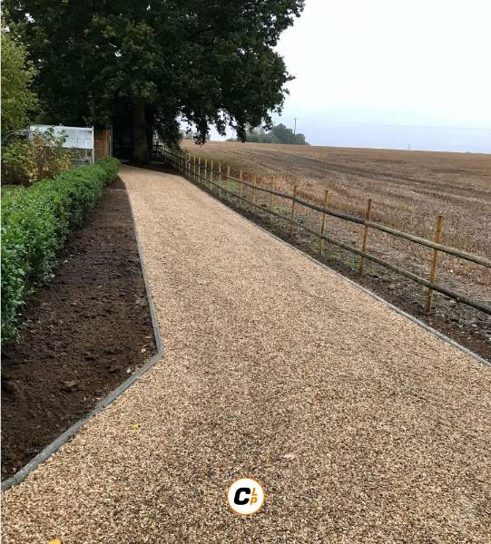Gravel Driveway Installation Using CORE DRIVE Gravel Grid