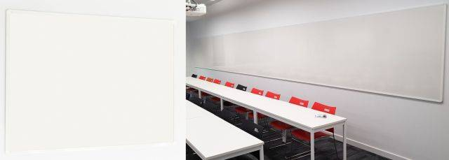 Sundeala Vitreous Enamelled Steel Projection Whiteboard Writing Wall - Aluminium Framed with Magnetic Writing Surface