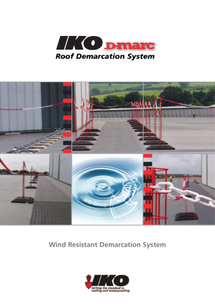 IKO D-marc: Roof Demarcation System