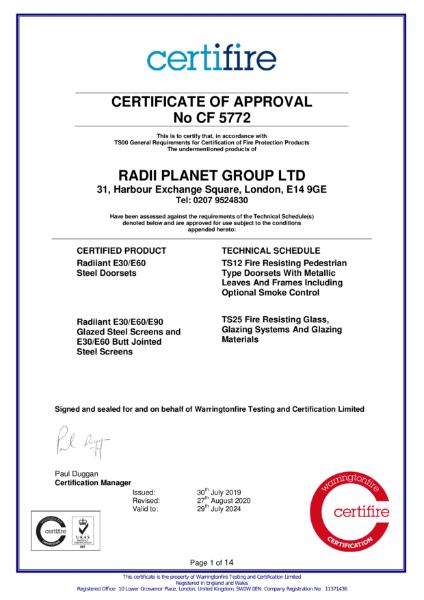 CF5772 Certifire Certificate