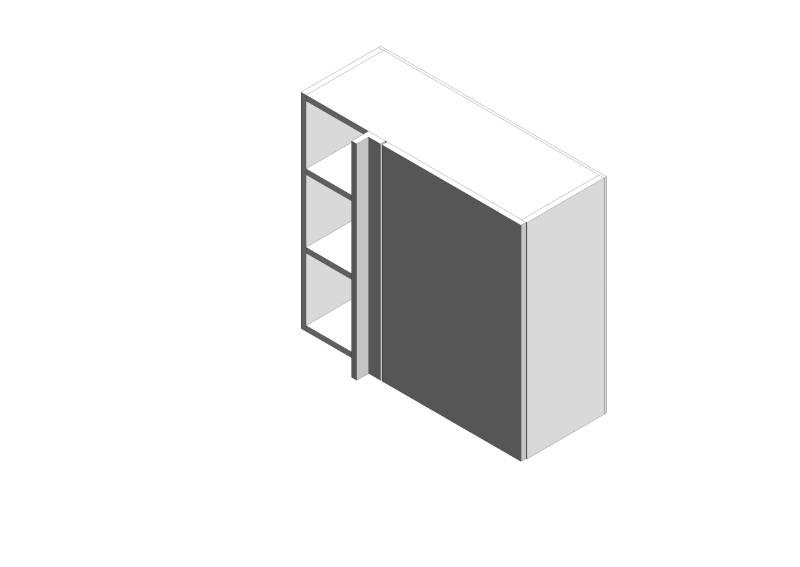 Linear Corner Wall Cabinets Std
