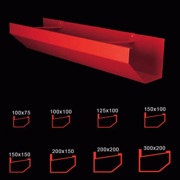 100 x 75 mm shaped box gutter