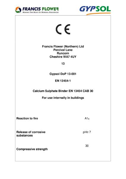 Gyspol CE Certificate