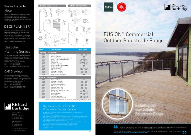 Fusion Outdoor Glass Balustrade & Juliette Balconies