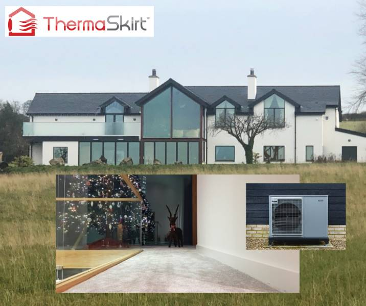 Farmhouse with ground source heat pump and ThermaSkirt