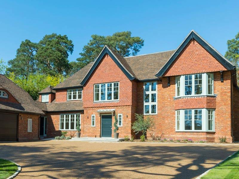 Contemporary Timber Windows in this quintessentially english luxury new home