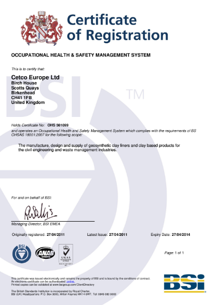 BS OHSAS 18001: 2004