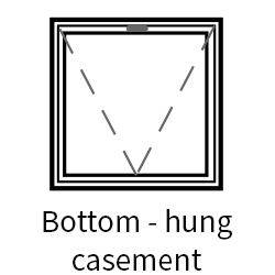 Series 41 Heavy Duty Bottom Hung Hinged Casement