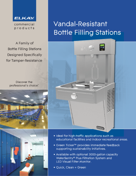 Vandal Resistant Bottle Filling Stations