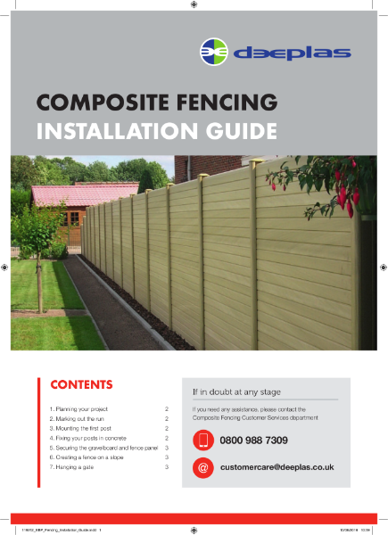 Deeplas Composite Fencing Installation Guide