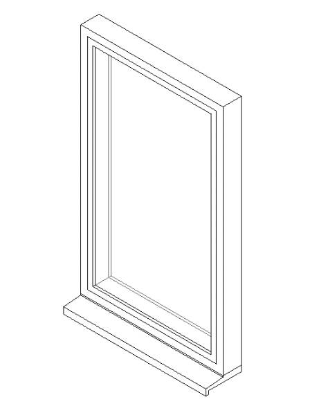 Single Window System with a Top Hung Opening Light