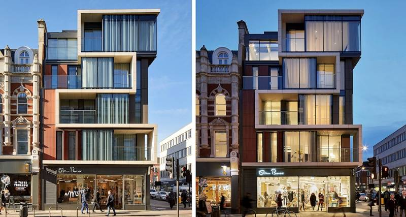 Artisan building complex in Fitzrovia, London
