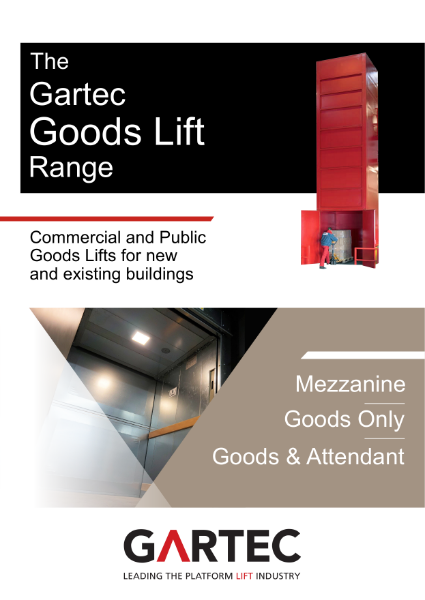 Gartec Goods Lift Brochure