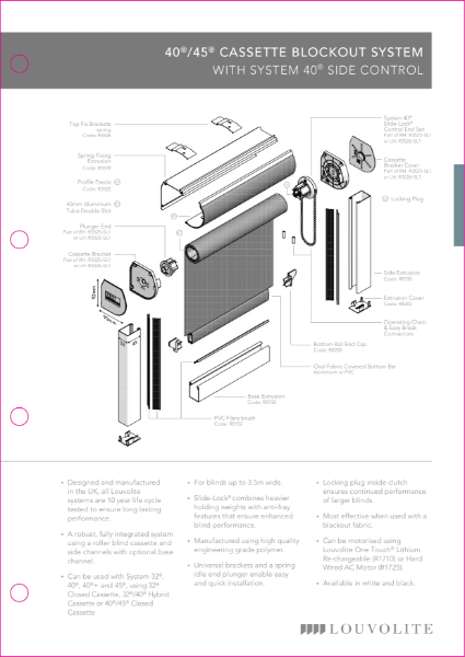 Roller Blockout System Technical Specification