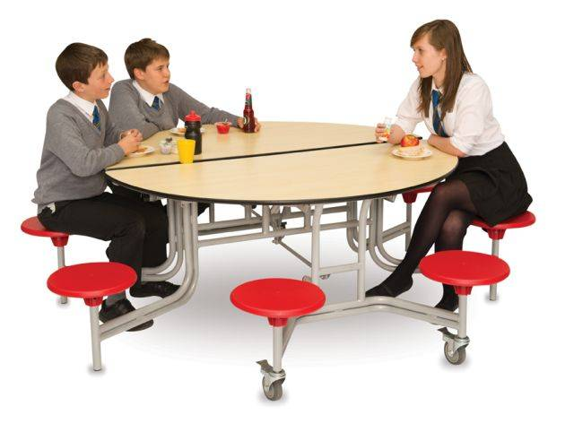 Round Folding Table Seating Unit