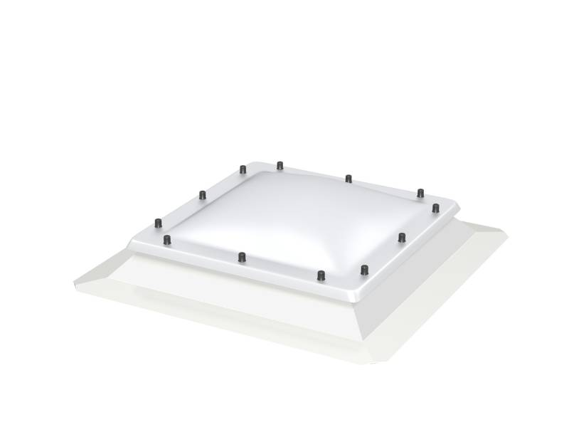 CFJ Fixed, Flat Roof Base Unit with Polycarbonate Dome Cover